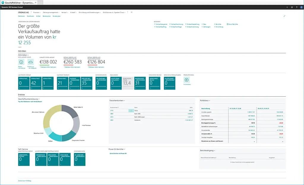 Microsoft Dynamics 365 Business Central Screenshots