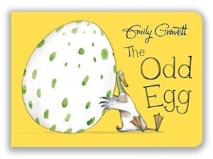The perfect board book gift for Easter - with a cheeky twist! All the birds have eggs to hatch. All except Duck. When Duck is delighted to find an egg of his own to look after: it's the most beautiful egg in the whole world! But all the other birds think it's a very odd egg indeed - and everyone's in for a big surprise when it finally hatches. With split pages that allow the visual jokes to unfold, The Odd Egg is another witty and lively book from award-winning creator, Emily Gravett.