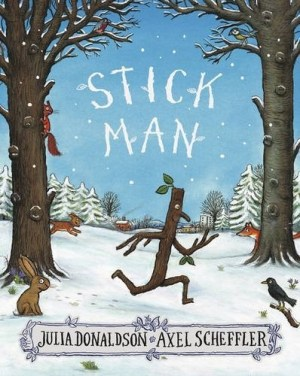 Stick Man lives in the family tree With his Stick Lady Love and their stick children three.