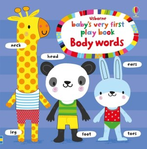 A colourful word book illustrated with delightful animal characters and busy scenes. There are new words to learn on every page, from body parts and actions to senses and emotions. Babies and toddlers will love following the fingertrails, peeping through the holes and exploring the cut-out shapes on every page.