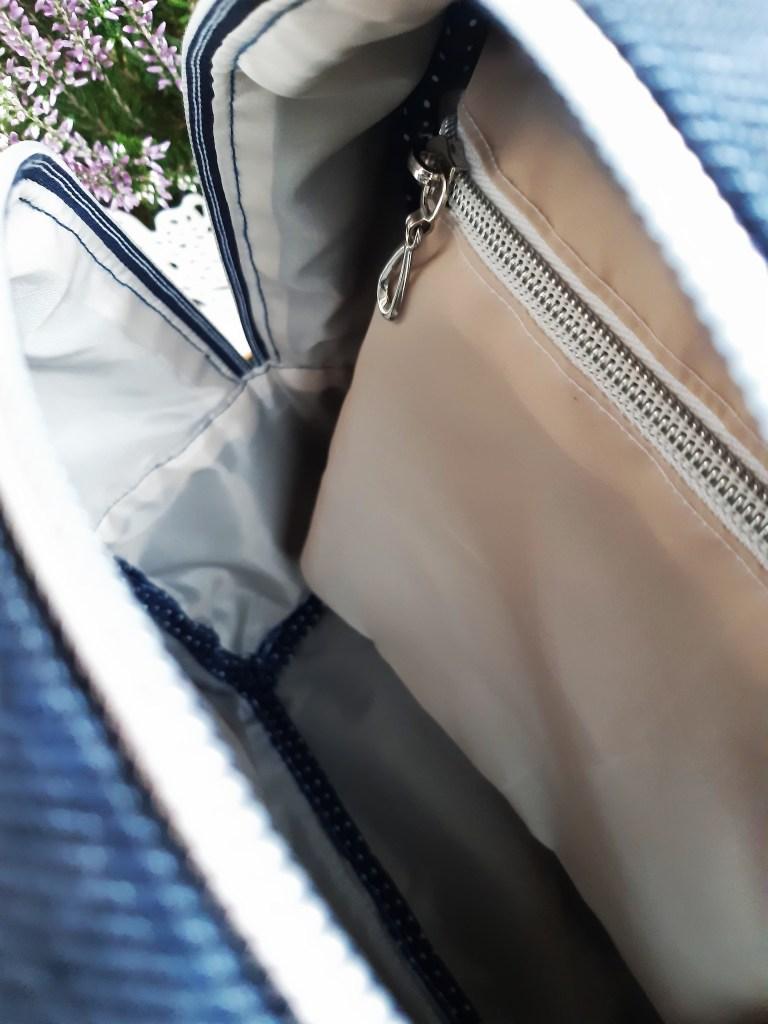 20190907 094345 768x1024 Jeansowy mini   plecak. Szycie zza kulis + wykrój