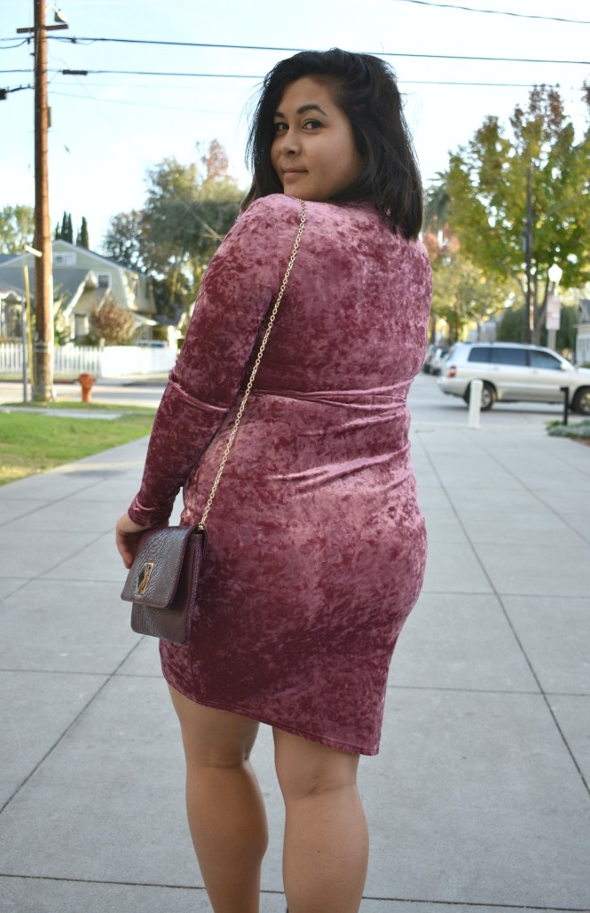 Asos curve velvet dress