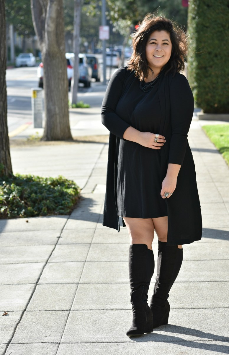 Winter LBD & why I hate wearing black; OOTD