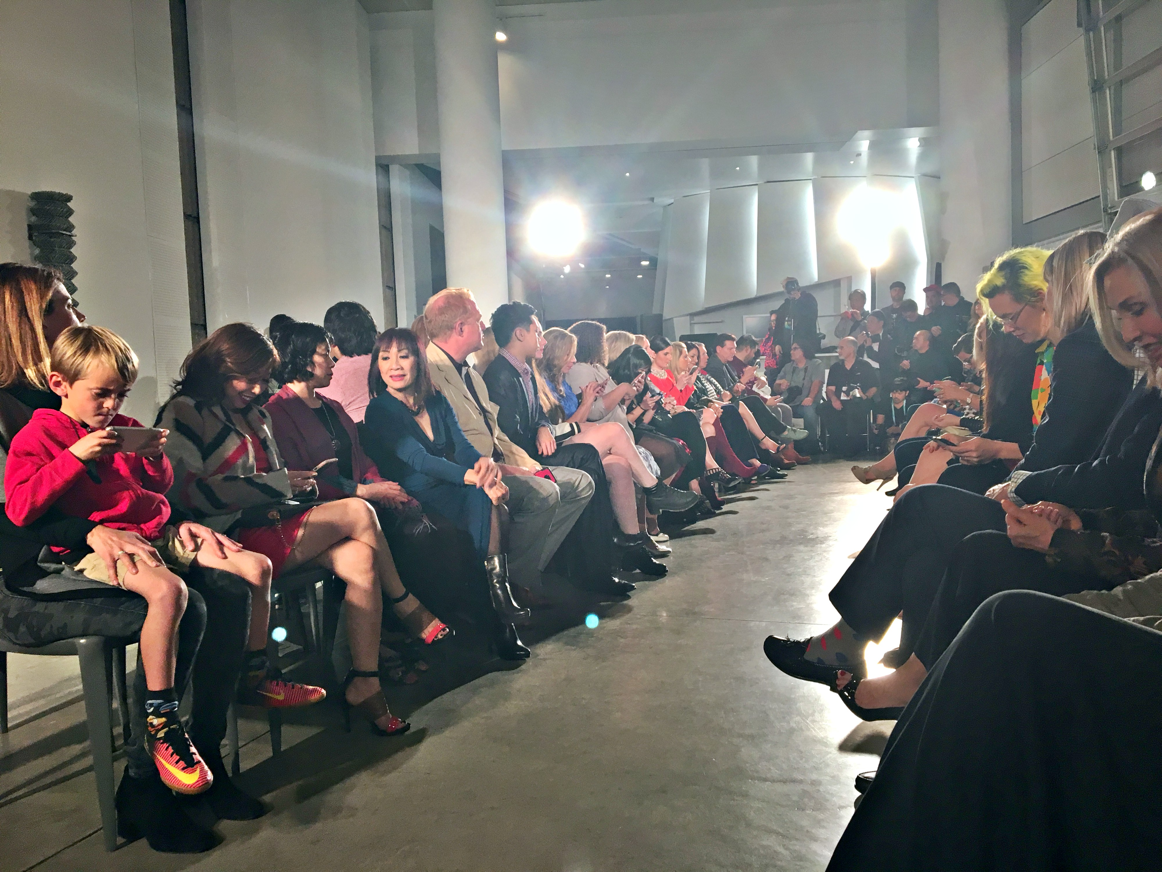 Fashion Show Runway Audience Luxury activewear &amp...