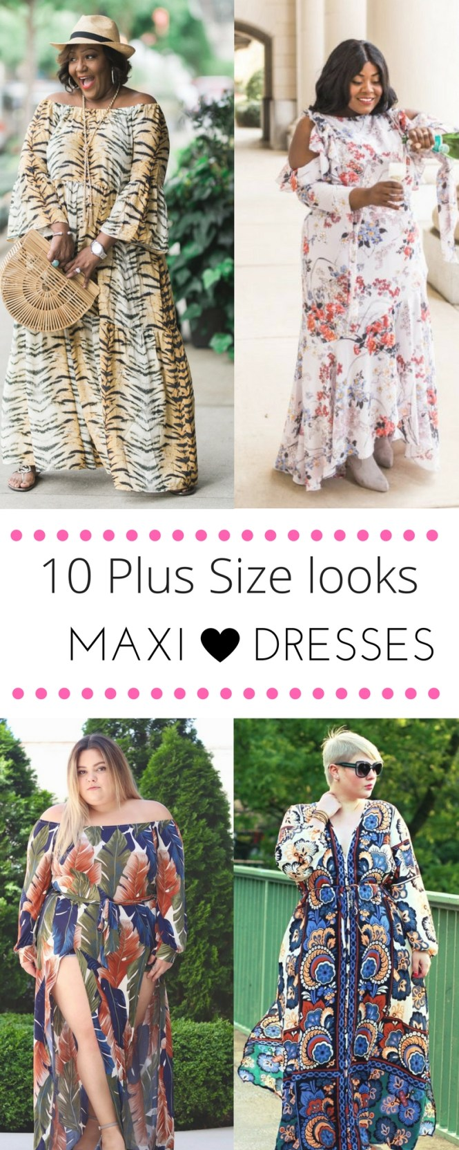 Plus size maxi dress looks