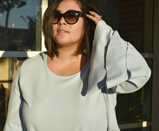 Plus size boohoo bell sleeves