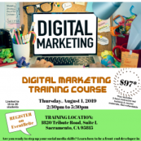 NEW CLASS ALERT - Digital Marketing Training Course - August 1, 2019 @ 2:30pm