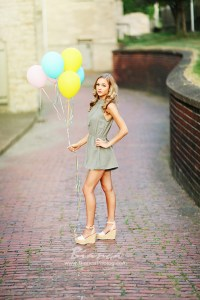 Stunning Blond High School Senior with Ballons Canfield Ohio