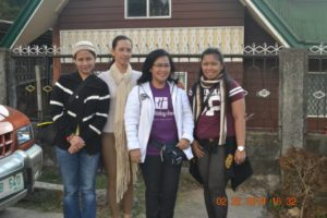 with my aunt and her friends