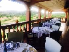 Die Terrasse des Restaurants