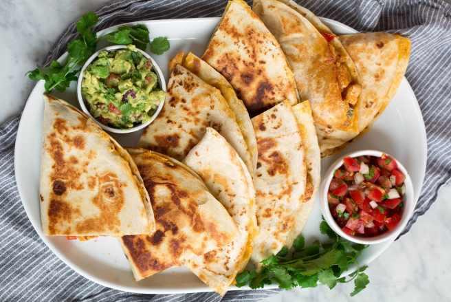 vino-cibo-messicano-quesadillas