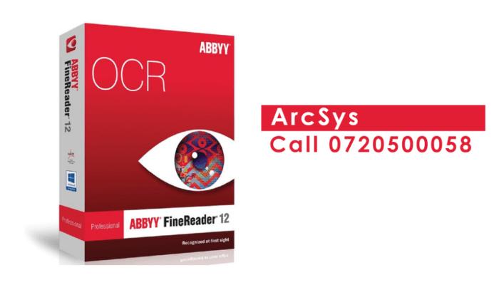 ABBYY fine reader ocr software installation service in nairobi kenya