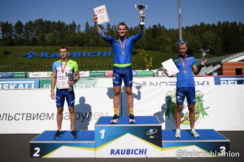 Podium sprint hommes Biélorussie 2020