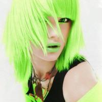 Cabelo verde neon