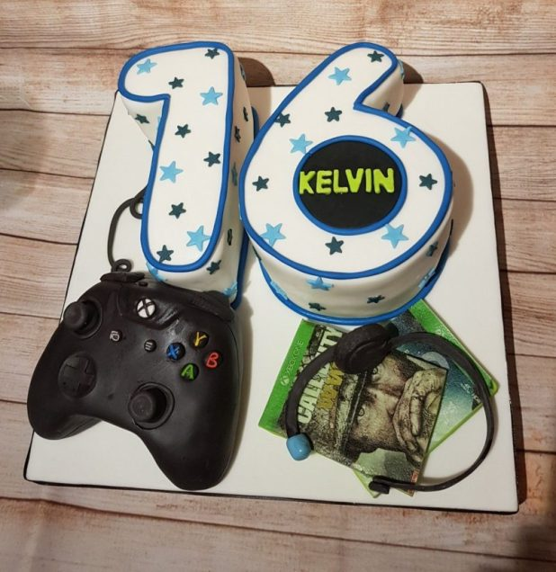 Wonderful Gaming Birthday Cake