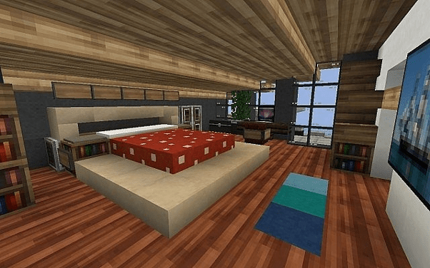 30 Creative Minecraft Bedroom Ideas In Game Best Image The first thing we notice after entering a house is the bedroom. 30 creative minecraft bedroom ideas in