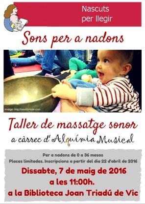 Sons per a nadons- Taller de massatge sonor (1)