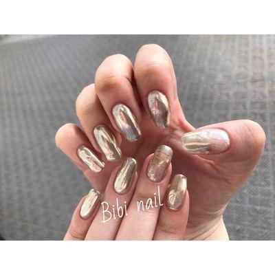 🏻スタッフnail-ヴィンテージネイル-...#nail#nailart#nails#ネイル#ネイルアート#ミラーネイル#ニュアンスネイル#ネイルデザイン#ヴィンテージネイル#ヴィンテージ風#シルバー#ワイヤーネイル#定額制ネイル#ネイルサロン#船橋#ビビネイル#Bibinail#bibinail