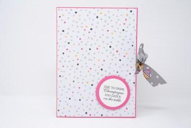 Geburtstagskarte Champagner