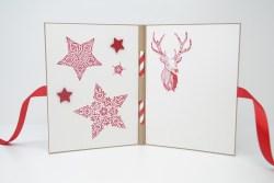 Weihnachtsmarkt Weihnachtskarte Sterne rot_2