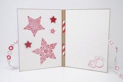 Weihnachtsmarkt Weihnachtskarte Sterne rot_3
