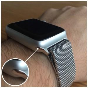 Bracelet apple watch milanais adaptateur
