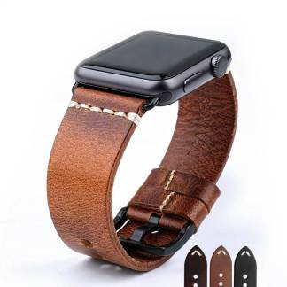 Bracelet pour Apple Watch Cuir veritable