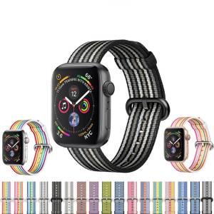 Bracelet sport nylon tissé Apple Watch