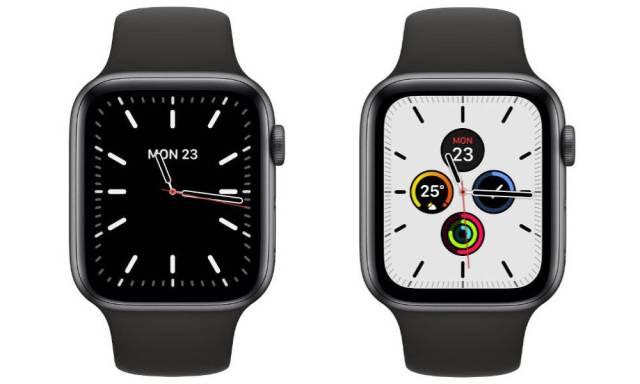 Apple Watch series 5 nouveaux cadrans