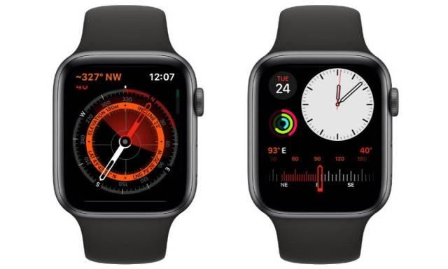 Apple Watch series 5 fontion  Boussole