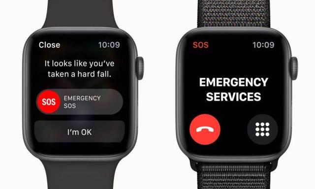 Apple Watch 5 Détection de chute