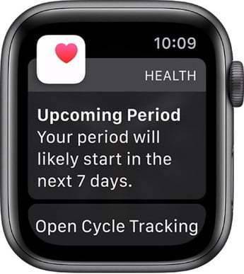 Cycle Tracker sur l'Apple Watch