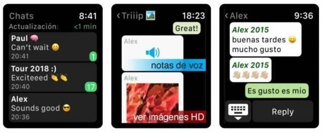 Comment utiliser WhatsApp sur l'Apple Watch
