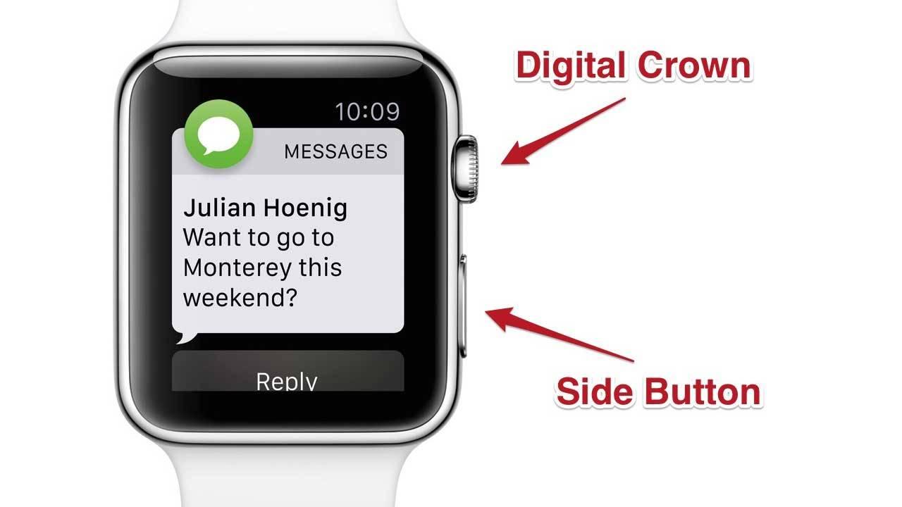 Faire une capture d'écran sur Apple Watch