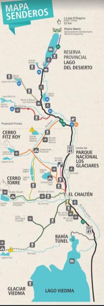 Mapa de senderos