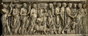 sarcophagus of ancient roman marriage