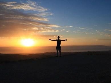 man-sunset