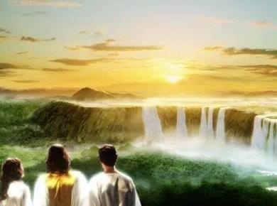 Sunset Jesus, Adam, and Eve