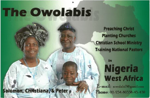 Solomon & Christiana Owolabi