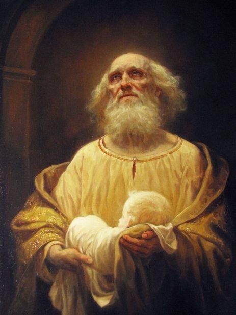 Старец Симеон и младенец Иисус