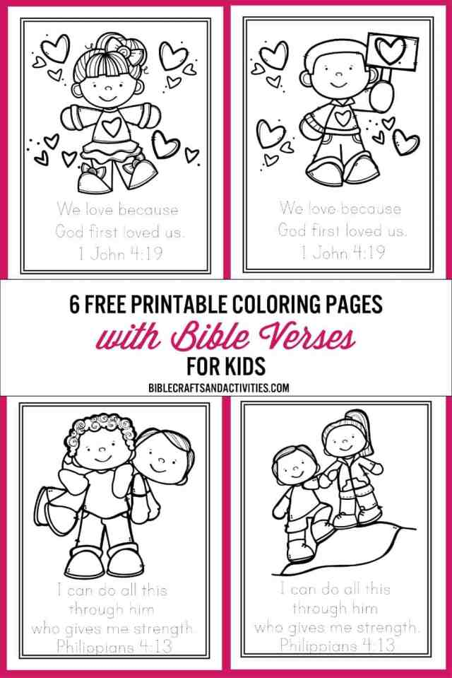Free Bible Verse Coloring Pages - Bible Crafts and Activities