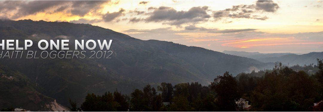 here we go… @helponenow haiti bloggers 2012