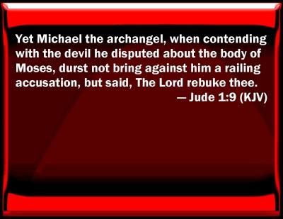 Image result for jude 1:9 kjv