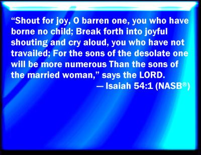 Image result for Isaiah 54:1 KJV