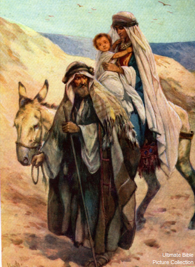 Matthew 2 Bible Pictures Joseph Mary and Jesus in stable