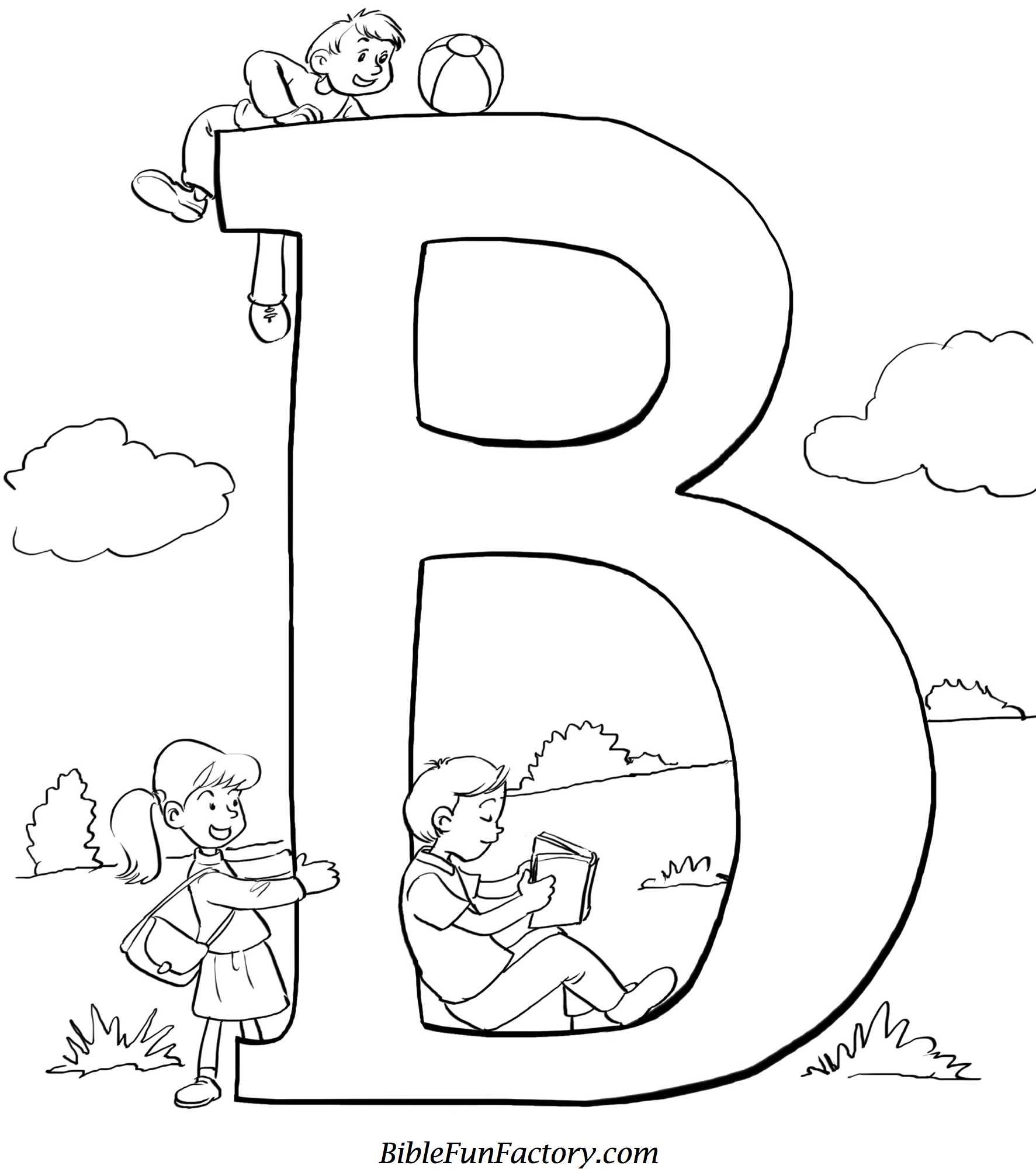 Bible Coloring Sheet B Is For Bible