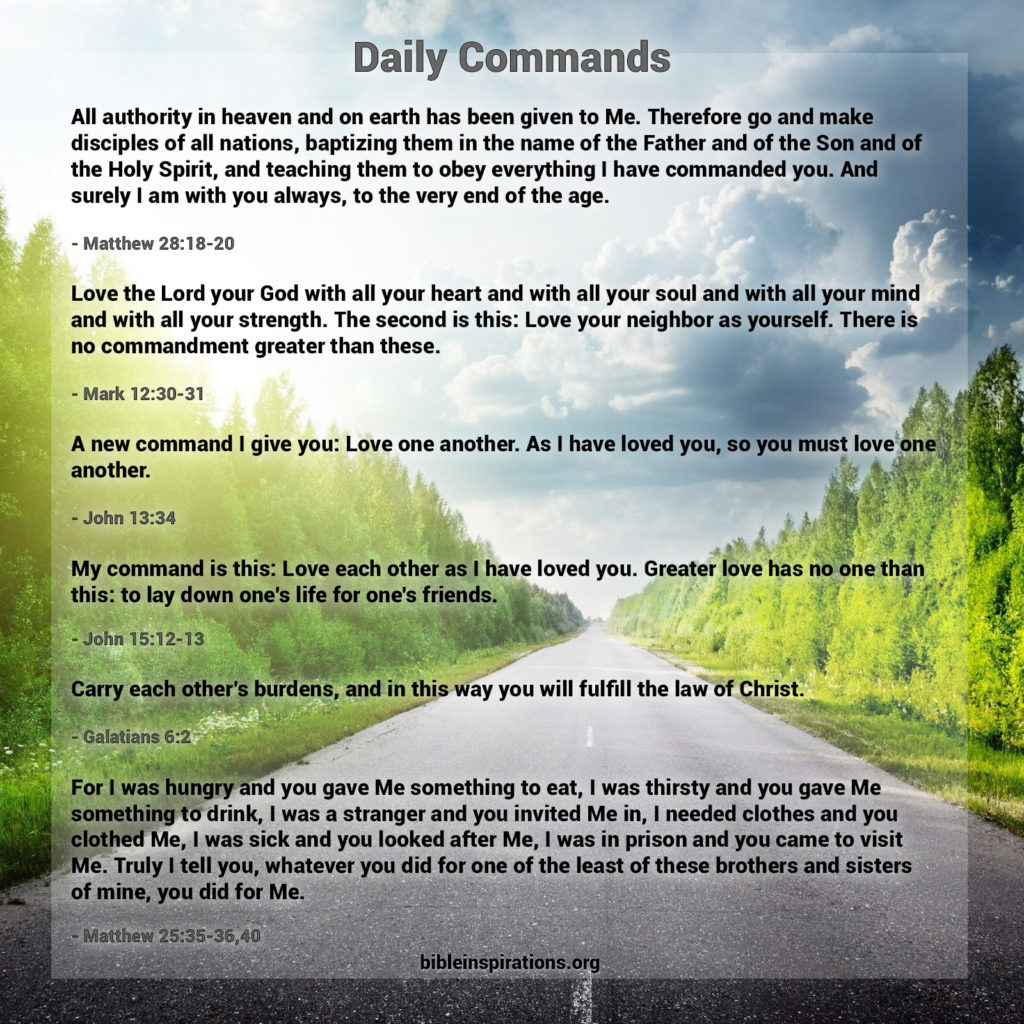 Daily Commands The Great Commission The Greatest
