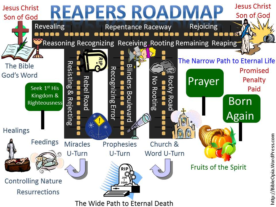 Reapers Roadmap: Revealing, Reasoning, Resisting, Rejecting, Recognizing, Receiving, Rooting, Repentance, Remaining, Reaping, Rejoicing (The 9 R's Roadmap) (1/3)