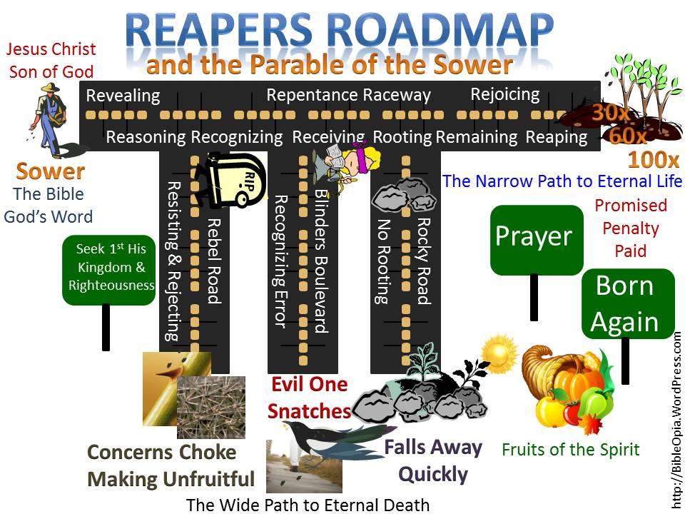 Parable of the Sower Mapped to The Reapers Roadmap (The 9 R's Roadmap)