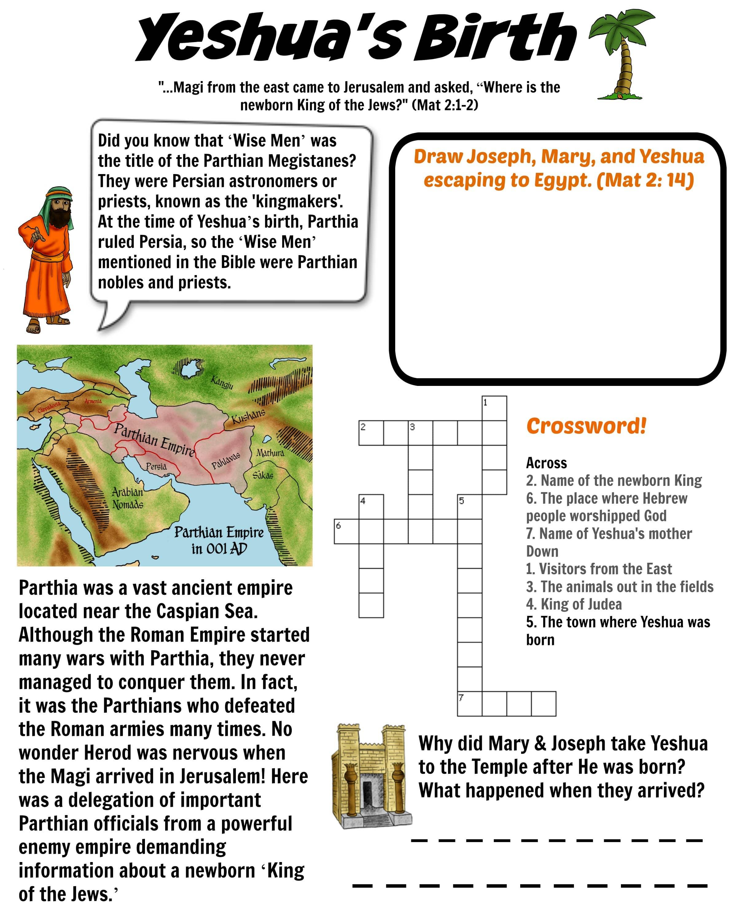 Birth Of Yeshua Worksheet Parthian Empire